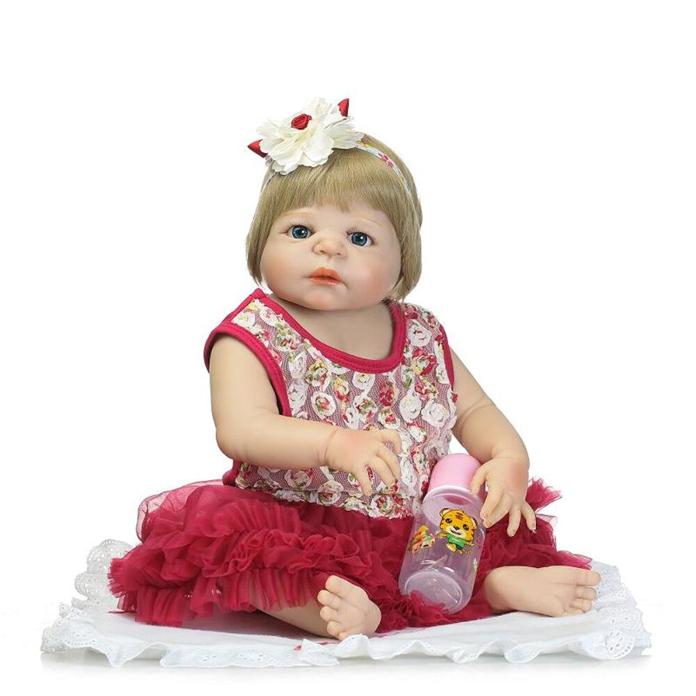 NPK 57 cm Realistic Full Silicone 23 Reborn Baby Doll For Sale Lifelike Baby Alive Dolls Kids Playmate Xmas Gifts Bathe ToysNPK 57 cm Realistic Full Silicone 23 Reborn Baby Doll For Sale Lifelike Baby Alive Dolls Kids Playmate Xmas Gifts Bathe Toys