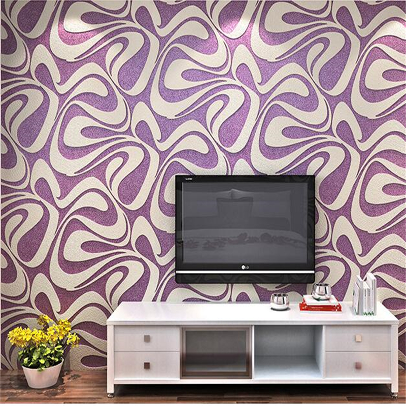 beibehang  Modern simple wallpaper TV background wall living room bedroom 3D stereo relief thick curve striped wallpaper tapety spring abundant flowers rich large mural wallpaper living room bedroom wallpaper painting tv background wall 3d wallpaper
