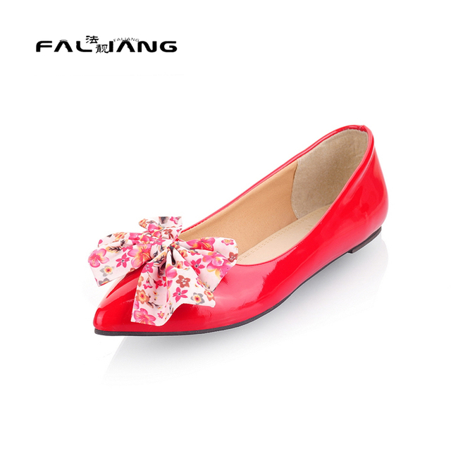 store super cute on sale US $50.0  Big Size 11 12 13 14 15 16 17 18 Spring/Autumn Pointed Toe  Butterfly knot Women's Shoes Flats Women's Shoes Woman For Women-in Women's  Flats ...
