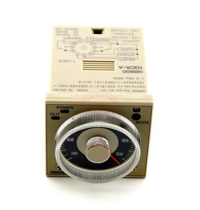Time Delay Timer Relay H3CR-A AC110V-220V DC24V DPDT 11Pins &Socket knob control dc24v dc12v ac110v ac220v 8p dpdt 5s seconds timer time delay relay w socket h3y 2