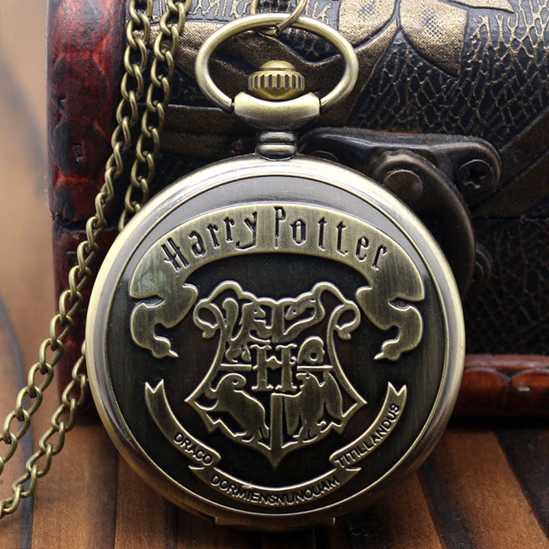 Latest Arrival Quartz Pocket Watch Men Classical Moive Theme Extensions 3D Animal Logo Pendant  Watches Gifts For Children