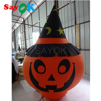 6.56ft Inflatable pumpkin giant halloween decoration inflatable pumpkin with led lights