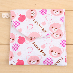 Image 4 - 1 Ps Brief Cute Animals Bear Frog Tree Design Earphone Coin Data Line Sanitary Towel Home Office Drawer Organizers Storage Bag