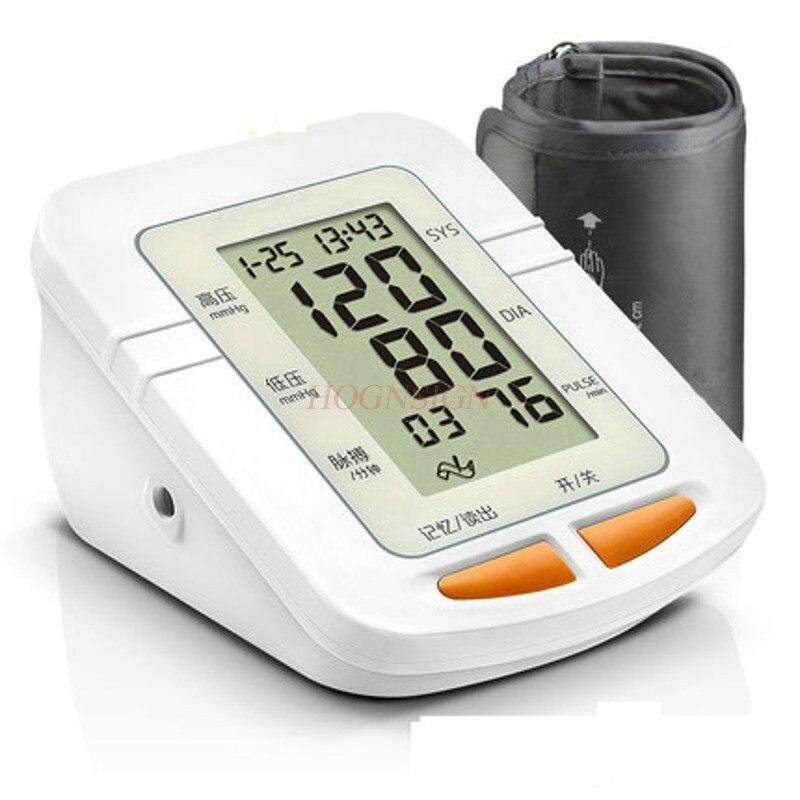 Electronic Sphygmomanometer Voice Home Upper Arm Blood Pressure Gauge Bloods Pressures Device Wrist Measurement Monitor Sale