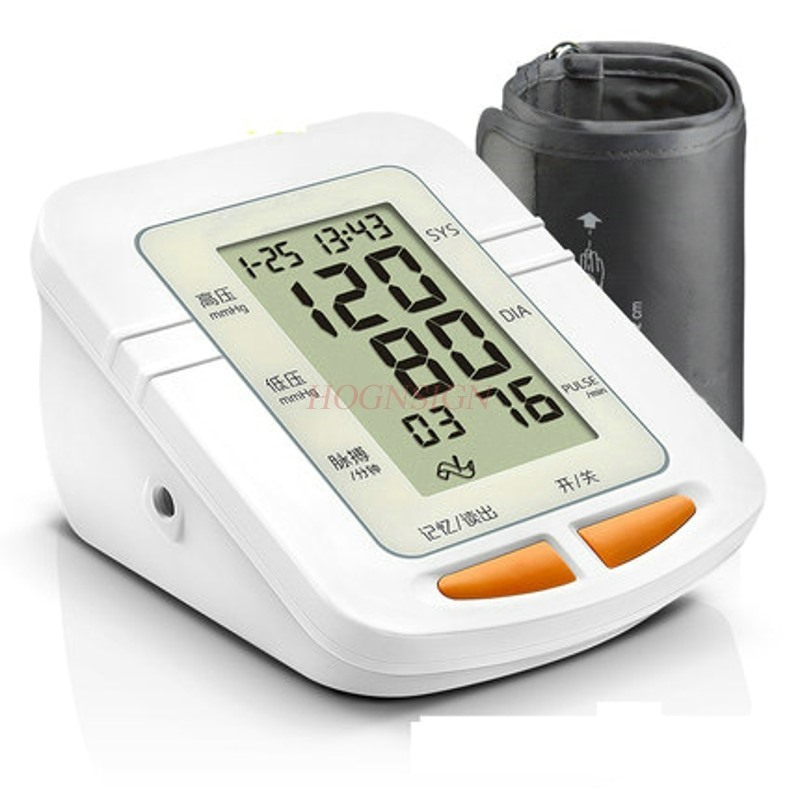 цена Electronic sphygmomanometer voice home upper arm blood pressure gauge blood pressure device