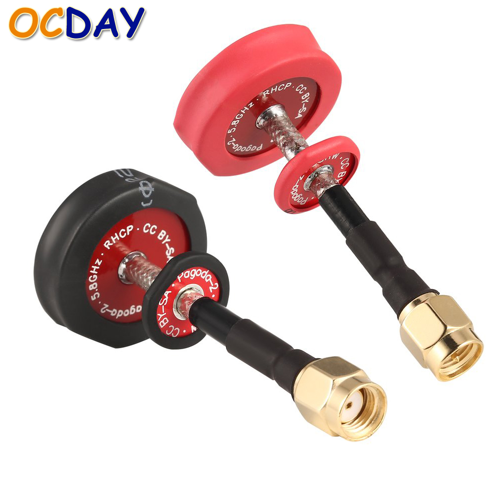 2pcs Ocday 5.8Ghz Omnidirectional Antenna SMA & RP-SMA Plug Connector for EMAX Pagoda 2 Racing Drone