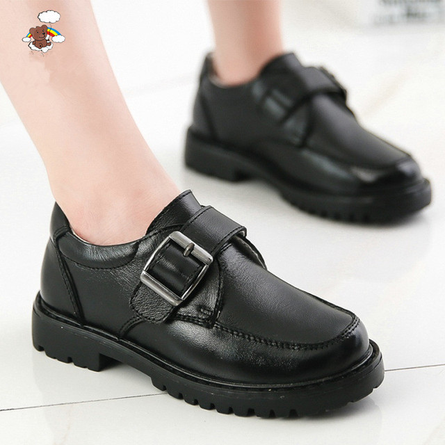 2017 one hundred percent genuine leather boys formal shoes Non-slip soft bottom leather children shoes kids fashion shoes childr