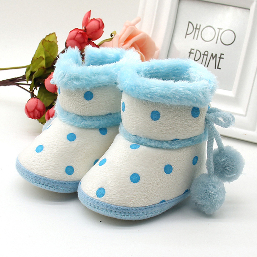 Newborn Shoes Baby Girls Boys Soft Booties Snow Boots Infant Toddler Newborn Warming Shoes Sapatos Infantil2.076