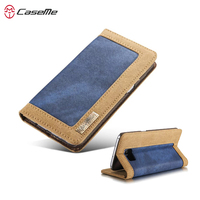 CaseMe Vintage Durable Jeans Wallet Case For Samsung Galaxy S7 S7 Edge Magnetic Stand Flip Phone