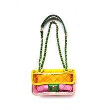 81576b622e Women Plastic Messenger Handbag Transparent Laser Handbag Clutch Shoulder  Crossbody Bag Chain Bag Clear Bag Evening