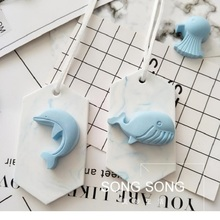 1pcs Aromatic silicone plaster mold dolphin stone  silicone soap molds car pendant decoration aromatherapy wax mould solid aromatherapy plaster mold wax licensing aromatherapy wax tablets silicone mold car strap