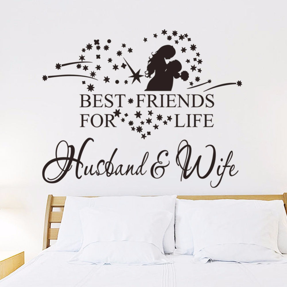 Bedroom Colors For Husband And Wife vinyl wall art decal love couple wall sticker husband and wife best