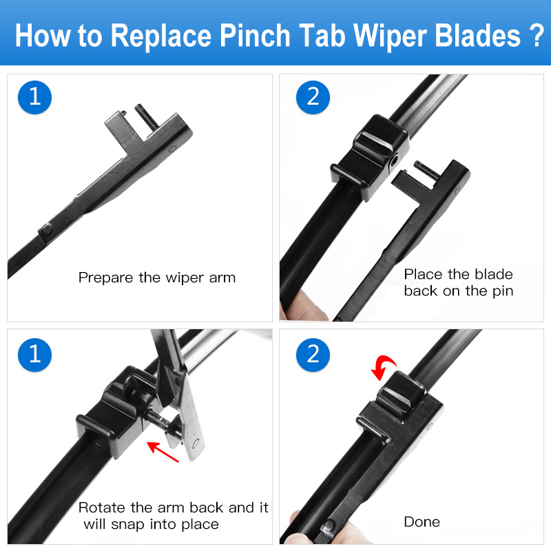 Blade Blades Kaca Depan REFRESH untuk Opel Astra H Hatchback / Estate - Suku cadang mobil - Foto 6