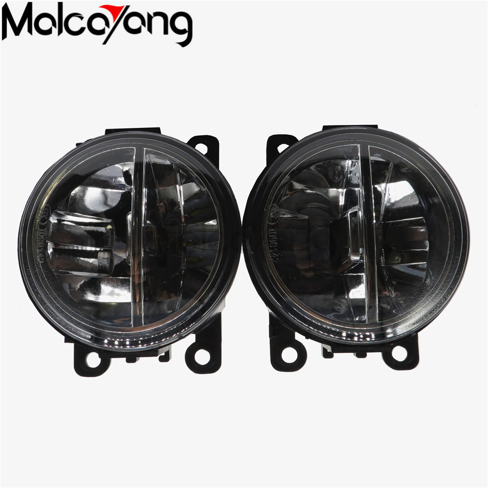 2pcs Fog Lamp Assembly Super Bright Fog Light For DACIA Duster Sandero LOGAN 2004-2015 Led Fog Light 20W for dacia logan saloon ls