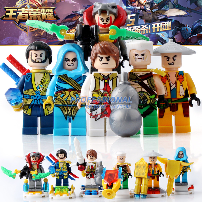 6PCS/LOT King of Glory Enlighten One of China Romance the Three Kingdoms Building Blocks Bricks Toys Children Gifts 3D529 glory talaris mach 6 wave напольная версия