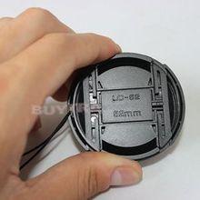 52 мм пластиковая Центральная защелкивающаяся Передняя крышка для фильтров объектива камеры со шнуром против потери