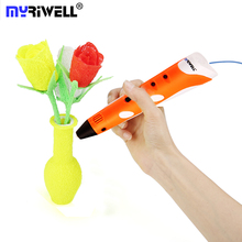 Myriwell Painting 3d Pen ABS PLA Filament Birthday Gifts for Kids Diy Best Drawing 3 D Pen Boligrafos Creativo Magic Pen 3d Pen myriwell 3d pen rp 100b with pla abs filament 200m 3d printer pen 3 d pen free fingersleeve drawing tool the best child gift