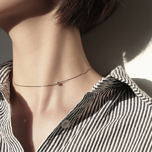 hot deal buy lbls genuine 925 sterling silver choker chain small bead women silver necklace for girls 925 silver jewelry necklaces pendants