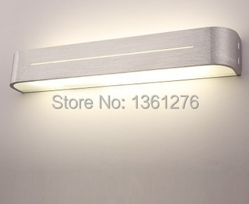 ФОТО high quality mirror light led wall lamps 85 265v 9w 38cm length decoration acrylic and aluminum materials