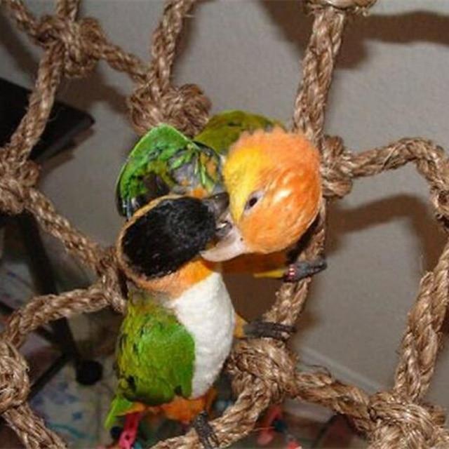 40*40cm Parrot Climbing Net Bird Toy Swing Rope Net Bird Stand Net Hammock With Hook Bird Hanging Climbing Chewing Biting Toys 3