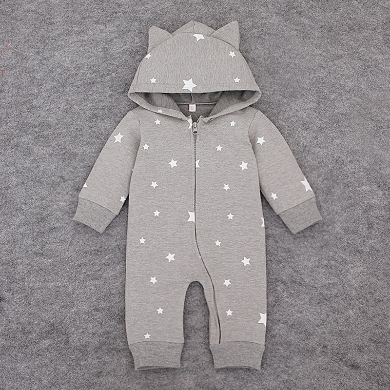 Newborn Baby Boys Rompers Spring Autumn Girls Clothing Set Infant Clothes Cotton Long Sleeve Hoodies Jacket Babies Jumpsuits summer baby romper boys clothing ropa bebe cotton jumpsuits short sleeve newborn rompers baby girls boys clothes
