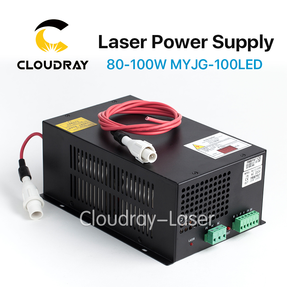 Cloudray 80-100W CO2 Laser Power Supply for CO2 Laser Engraving Cutting Machine MYJG-100 LED 10 6 um co2 laser cutting machine diy parts 40w 60w 80 100w 130w 150w laser tube laser power supply fix tools
