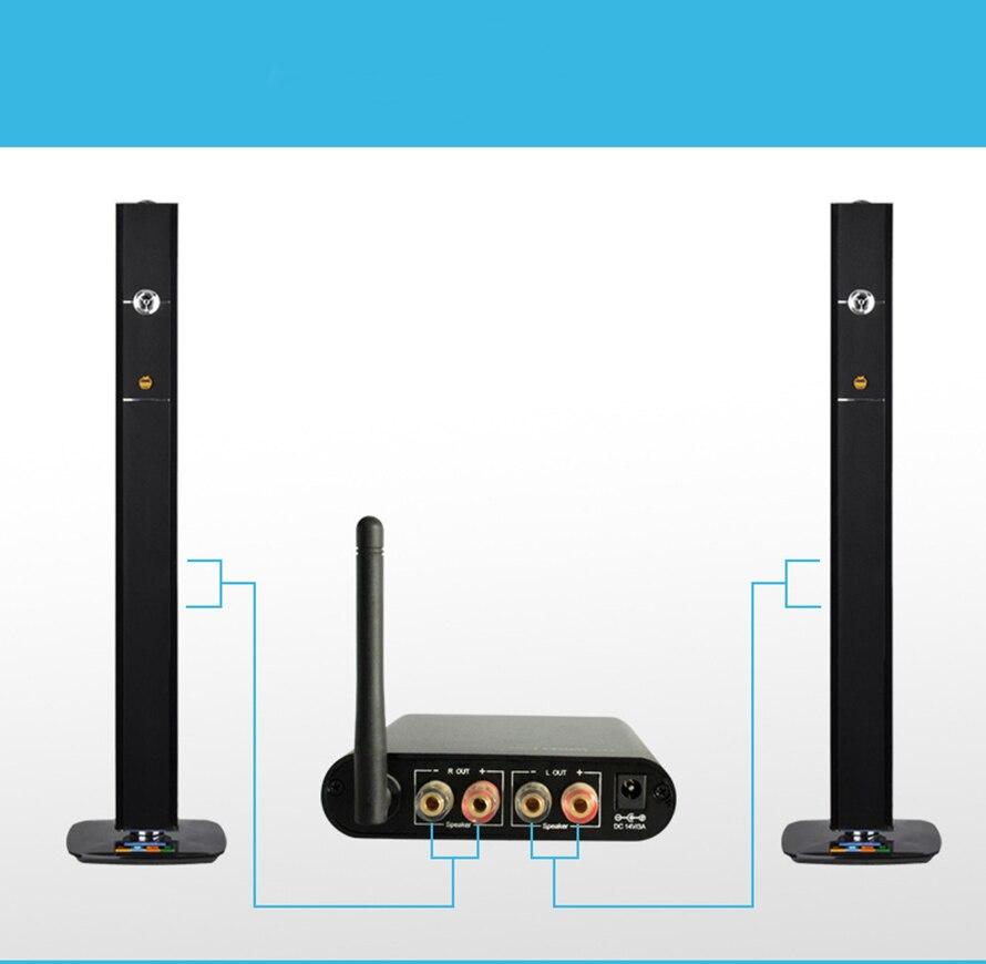 TP WIRELESS sans fil numérique arrière stéréo Surround Audio Home cinéma amplificateur pour 5.1 système de cinéma maison résolution de problème de fil-in Amplificateur from Electronique    3