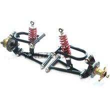 Картинг четыре колеса ATV передняя подвеска амортизаторы маятники с фланцем колеса сидя