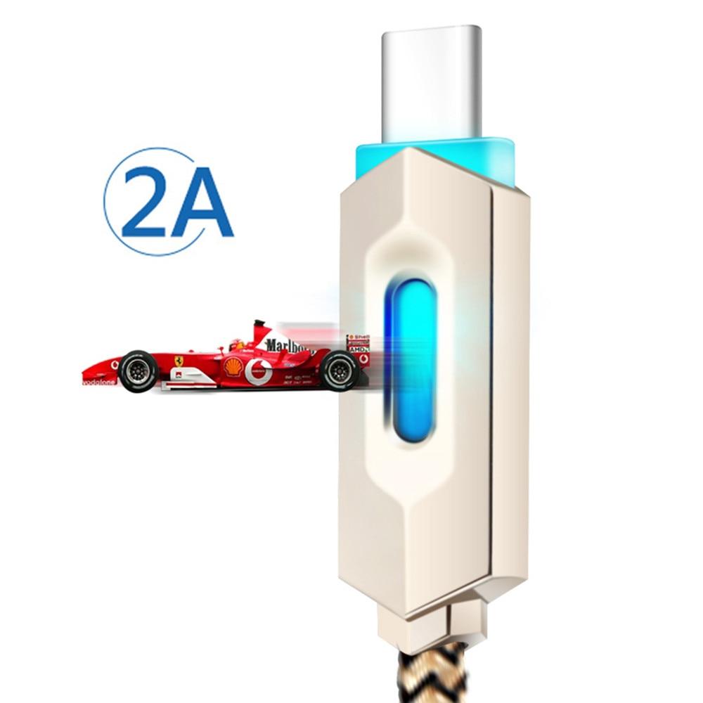Datenkabel Gerade Usb Kabel Nylon Geflochtene Lichter Led Micro/typ-c Schnelle Ladegerät Kabel Android Sync Data Schnelle Ladegerät Adapter Für Iphone Ipad SpäTester Style-Online-Verkauf Von 2019 50%