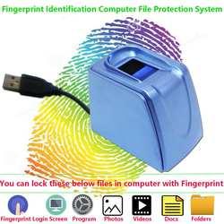 Биометрическая идентификация отпечатков пальцев система блокировки файлов для компьютерных файлов папки фотографии, видео безопасность