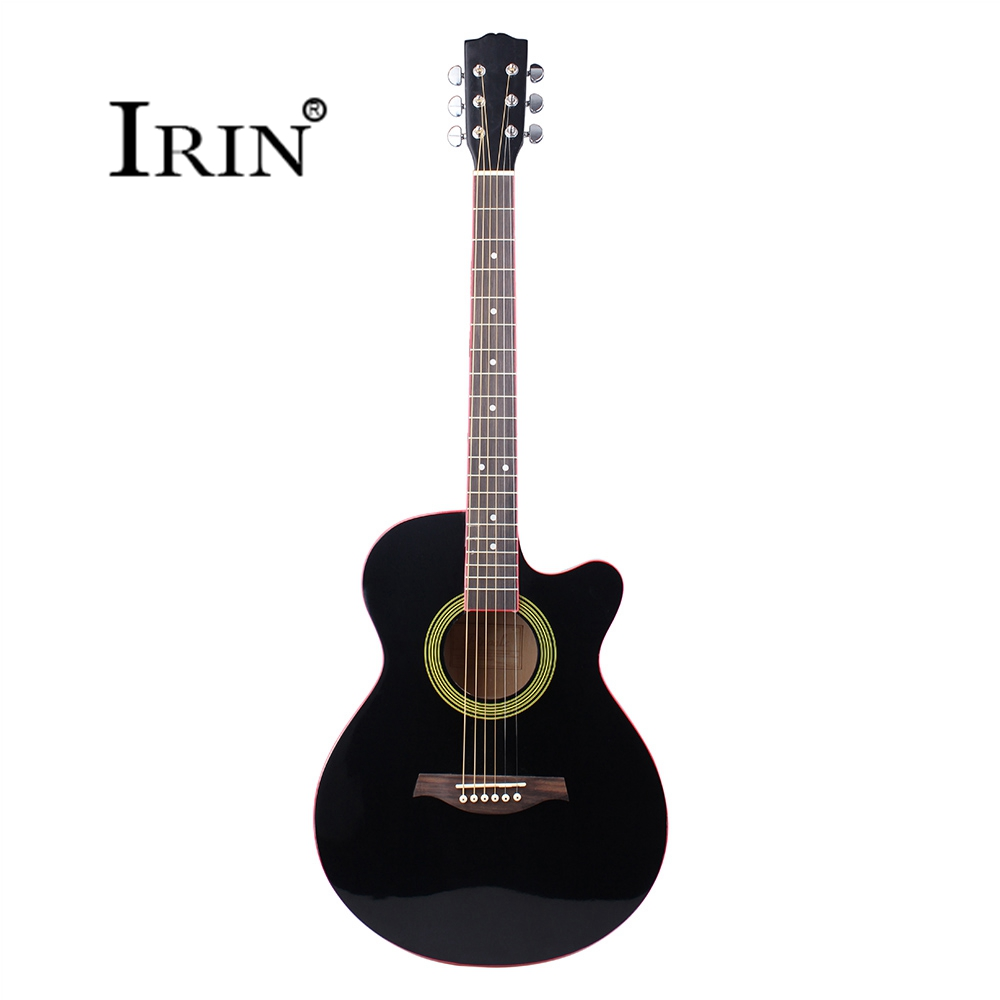 Acoustic Guitar 40 Inch 6 String Guitar Folk Cutting Down Black Rosewood Fingerboard Musical Instruments Professional Violao amola acoustic guitar strings set 010 012 011 pure copper steel 010 047 acoustic wound guitar 1 6th string musical instruments