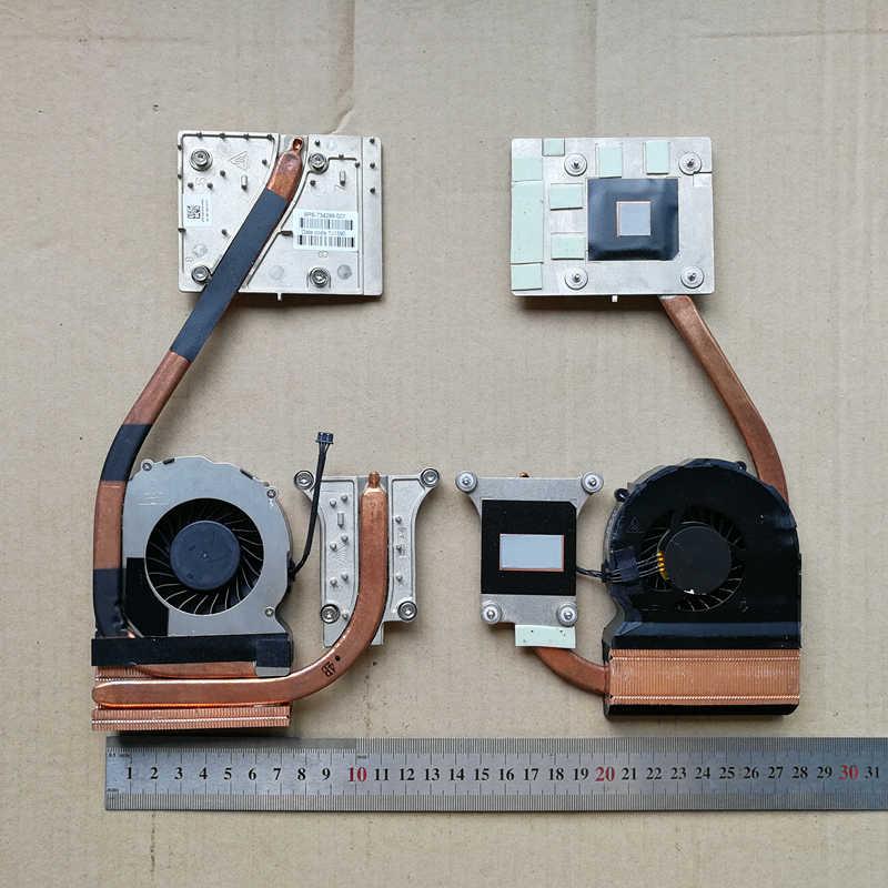 Original for hp zbook 15 studio g3 g4 fan heat sink Test OK