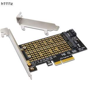 Image 1 - H1111Z Add On Cards PCIE to M2/M.2 Adapter SATA M.2 SSD PCIE Adapter NVME/M2 PCIE Adapter SSD M2 to SATA PCI E Card M Key +B Key
