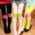 Kids Children Girls Colored Tights Velvet Candy Colors Cute Cat Fish Winter Tights for Baby Children Pantyhose Stocking Autumn