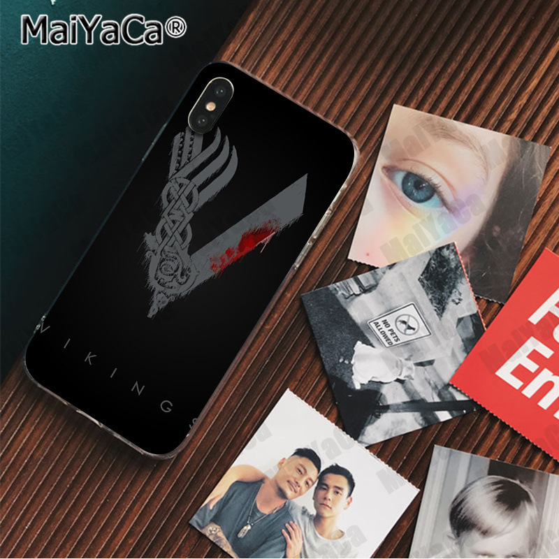 , MaiYaCa vikings serie Colorful Cute Phone Accessories Case for iPhone X XS MAX 6 6S 7 7plus 8 8Plus 5 5S XR cover