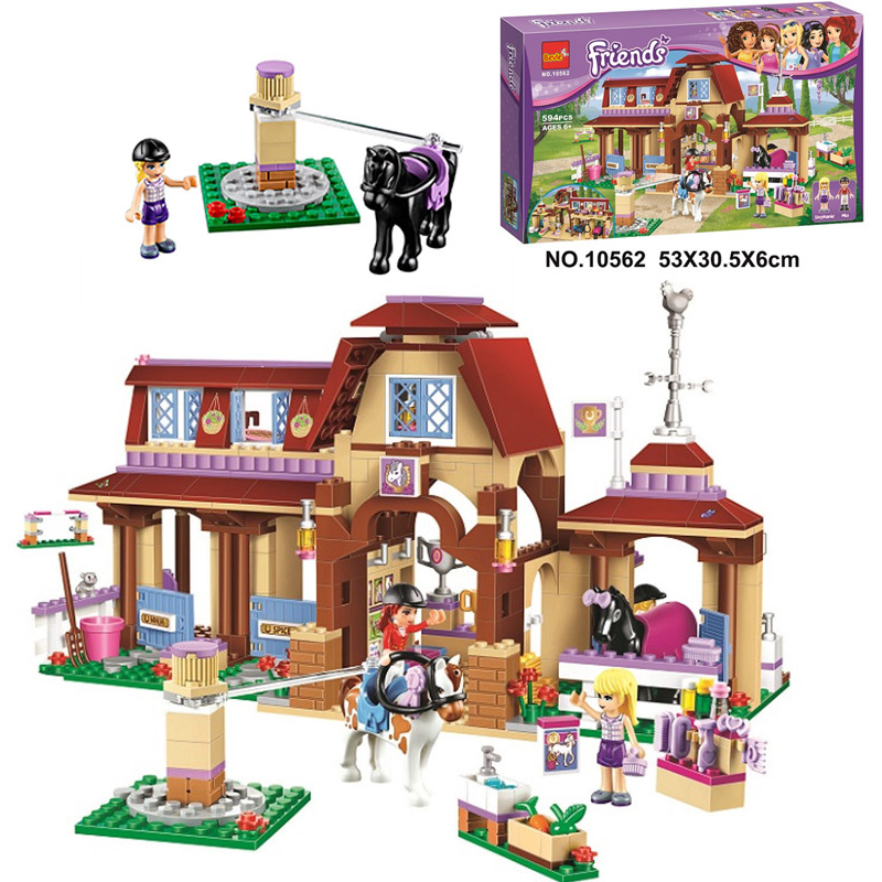 Bela 10562 Friends Series Heartlake Riding Club Model Building Block Bricks Toy For Children Compatible With Legoe Friends 41126 чикко 617790 прокладки для груди 30 шт 30шт