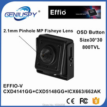 """30x30mm 1/3 """"SONY Effio-V Verdadeiro WDR Mini Câmera Quadrado 2.1mm Lente Pinhole 800TVL OSD 4141 + 663  662 para ATM Câmera de Acordo Com Rosto"""