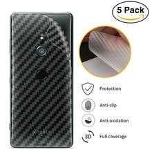 3D Carbon Fiber Back Cover Screen Protector Film For Sony Xperia XZ3 XZ2 XZ1 XZ XA2 XA1 XA Ultra Premium Protective Sticker