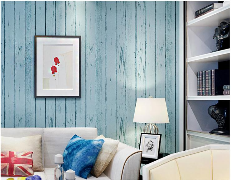 Aliexpress.com : Buy Blue/White Wood Panel non woven wallpaper Roll Natural  Rustic Scrapwood Woodboard wallcovering Design Room Vintage Wallpaper from  ... - Aliexpress.com : Buy Blue/White Wood Panel Non Woven Wallpaper