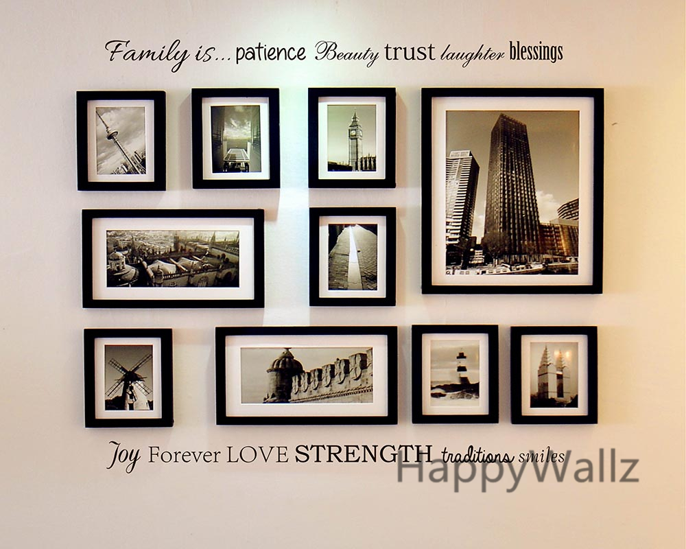 Family Is Patience Beauty Trust Laughter Blessings Family Quote Wall Sticker Decorating Diy