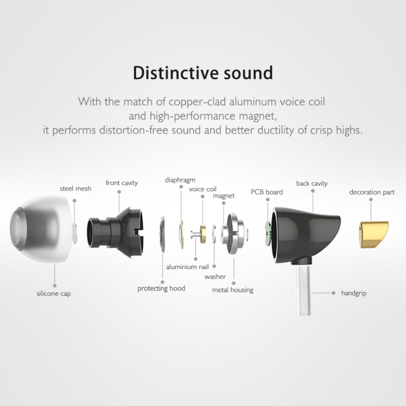 Rock Zircon Stereo Earphone In Ear Headset With Micro 3.5mm In Balanced Immersive Bass Earphones for iPhone for Xiaomi Huawei 12