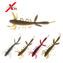 XTS Fishing Lures 75mm / 100mm Wobblers 6 Pieces/Bag High Quality Artificial Worm Bait 5 Colors Soft PVC Material Baits 3810