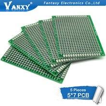 5 шт. 5x7 см 5*7 двухсторонний Прототип PCB diy универсальная печатная плата