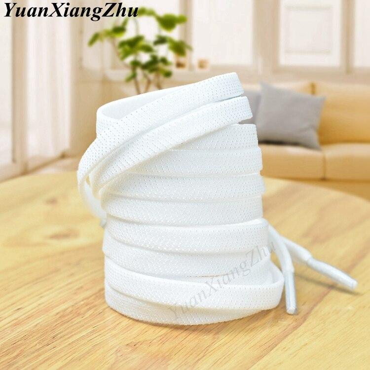 1Pair Flat Elastic Shoelaces White/Black No Tie Shoelaces Kids Adult Unisex Flat Sneakers Shoelace Quick Lazy Laces Strings