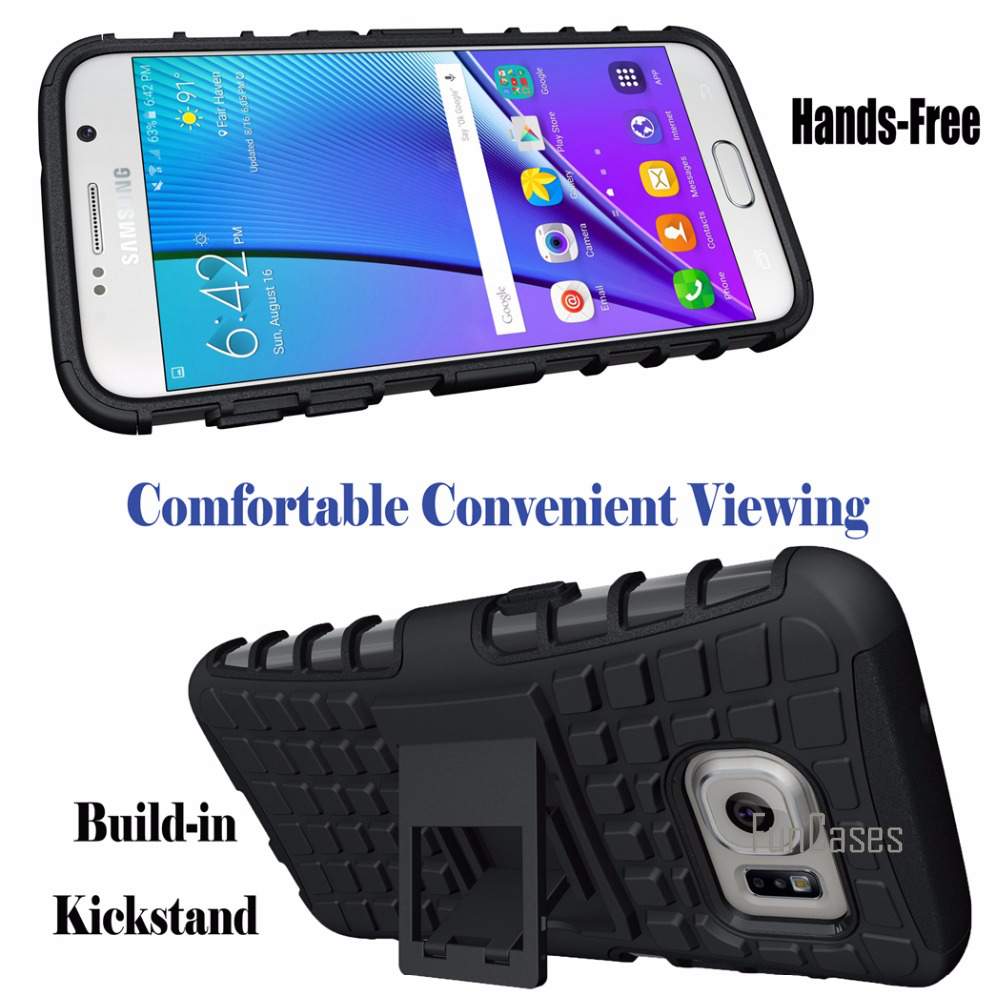 Case For Samsung Galaxy S3 S4 S5 S6 S7 Edge Plus Case Hybrid Kickstand Rugged Rubber Armor TPU+PC Shockproof With Stand Funtion