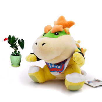 7 inches 18cm super mario bros koopa bowser plush toys with tag high quality gift for children Anime Super Mario Bros Koopalings Bowser JR Koopa Dragon Peluche Doll Plush Soft Stuffed Toy Great Christmas Gift For Children