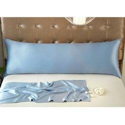 100% Pure Mullberry Silk Long Pillowcase with Hidden Zipper Soft Silk Zipper Pillow Case Cover for Bedding High Quality 3 Sizes