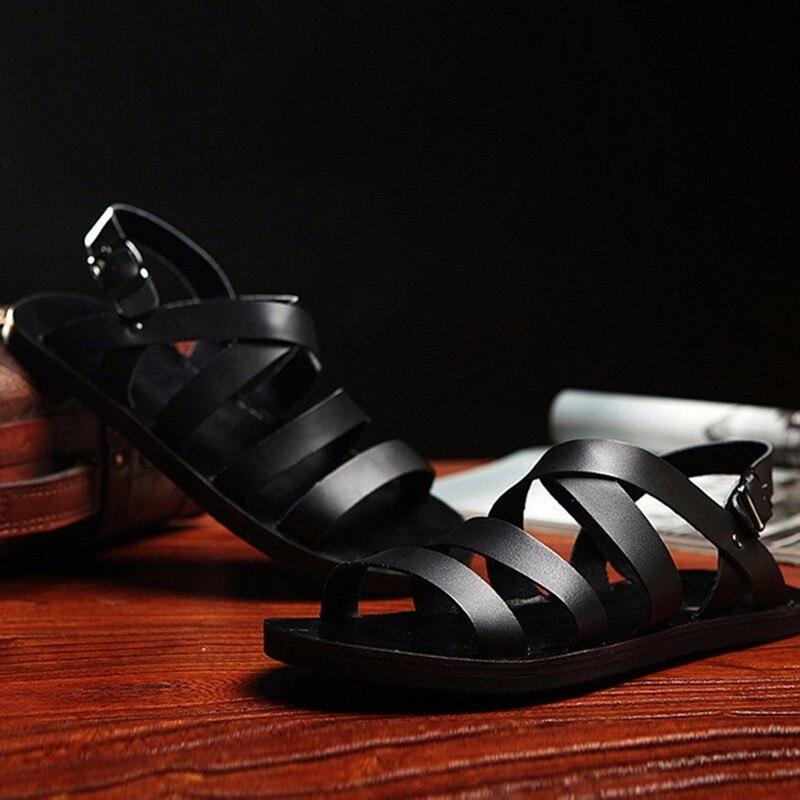 leder sandalen italienischen werbeaktion shop f r. Black Bedroom Furniture Sets. Home Design Ideas