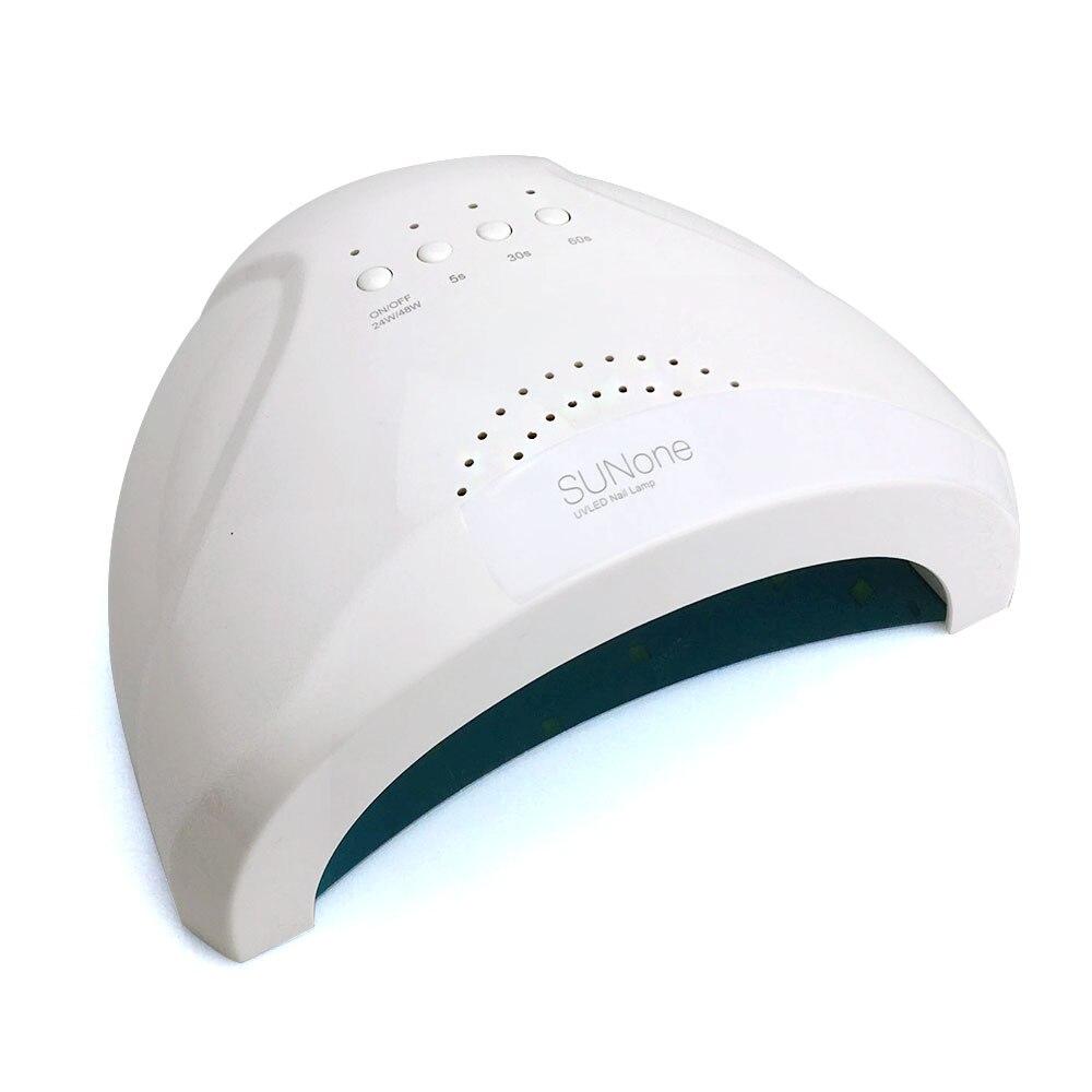 24/48W UV Lamp Nail Polish Dryer LED Sunone White Light 5S 30S 60S Drying Fingernail&Toenail Gel Curing Nail Art Dryer Manicure