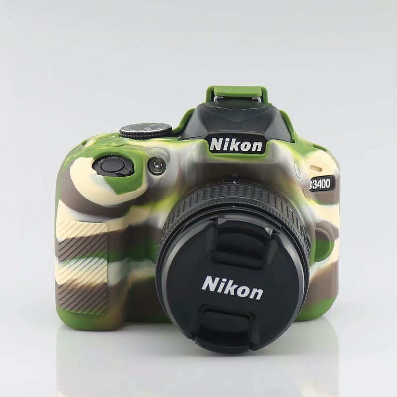 Camera Bag <font><b>Case</b></font> for <font><b>Nikon</b></font> D90 D3300 <font><b>D3400</b></font> D3500 D5100 D5200 D5300 D5500 D5600 DSLR Soft Silicone Rubber Protection <font><b>Case</b></font> image